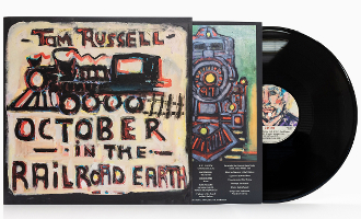 "Tom Russell ""October in the Railroad Earth"" LP"