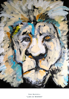 Lion in Winter Artist Proof Print