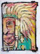"""Run With The Hunted (Cherokee)"" original painting"