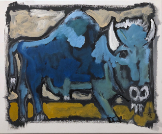 """Old Shakespeare, Charlie Goodnight's Favorite Bison"" SOLD"