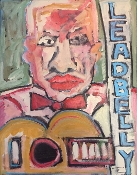 """When I Was A Cowboy #2 (Leadbelly)"" original painting"